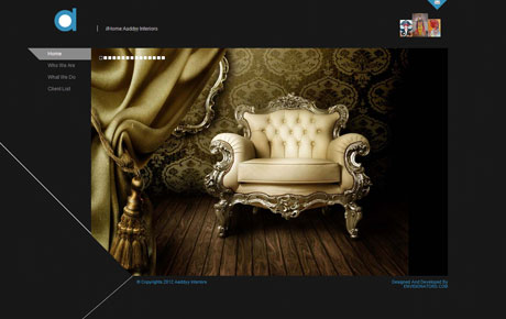 official website for aaddyy interiors to give the brand a web footprint,and a new face to the brand.