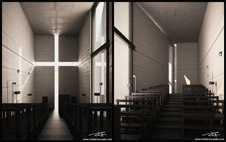 3D visualization for church of light by world famus architect Tadao Ando-this was one of our practice project to take our skills to the next level.